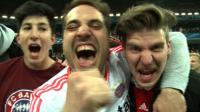 News video: Bayern fans celebrate in Munich, Berlin